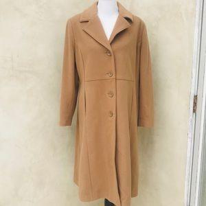Mark Reed Camel Wool Blend Coat New